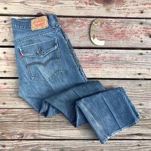 Levi's 514 Slim Straight Medium Wash Jeans 33  *Y7
